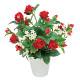アレンジフラワー バラ(赤) (造花) 高さ23cm 光触媒 (553A20)