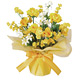ミルキーハニー (造花) 高さ32cm 光触媒 (73A25)